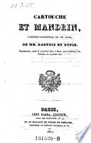 Cartouche et Mandrin, comedie-vaudeville en 1 acte