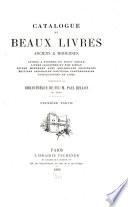 Catalogue de beaux livres anciens & modernes