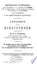 Catalogus Van De Bibliotheek Nagelaten Door Mr G A Fokker