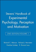 Stevens  Handbook of Experimental Psychology  Perception and Motivation