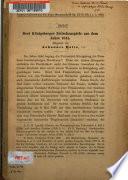 Drei Königsberger zwischenspiele aus dem jahre 1644 ...