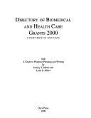 Directory of Biomedical and Health Care Grants 2000
