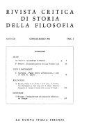 Rivista critica di storia della filosofia