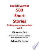 English Learner 500 Short Stories for Beginner Intermediate Vol  2