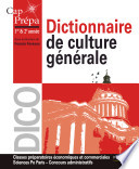 Dictionnaire de culture g  n  rale