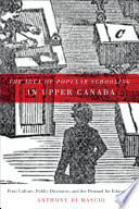 Idea of Popular Schooling in Upper Canada