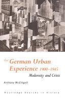 The German Urban Experience