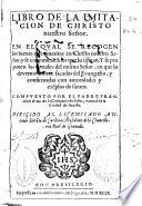 Libro de la imitacion de Christo Nuestro Se  or