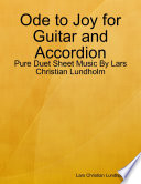 Ode to Joy for Guitar and Accordion - Pure Duet Sheet Music By Lars Christian Lundholm