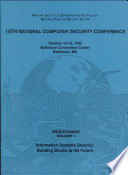 National Computer Security Conference Proceedings 1992