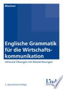 Englische Grammatik f  r die Wirtschaftskommunikation
