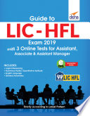 Guide To Lic Hfl Exam 2019 With 3 Online Tests For Assistant Associate Assistant Manager