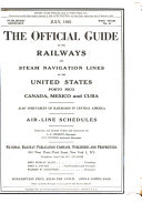 Official Guide of the Railways and Steam Navigation Lines of the United States  Porto Rico  Canada  Mexico and Cuba Book PDF