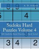 Sudoku Hard Puzzles Volume 4