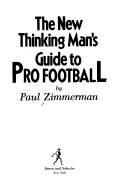 The new thinking man s guide to pro football