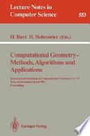 Computational Geometry Methods Algorithms And Applications