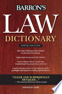 Law Dictionary  Sixth Edition