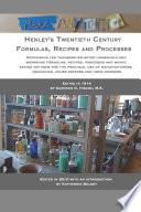 Henley's Twentieth Century Formulas, Recipes and Processes