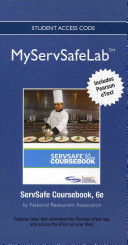 New Myservsafelab with Pearson Etext    Access Card    For Servsafe Coursebook