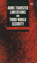 Arms Transfer Limitations and Third World Security