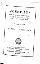 Josephus The Life Against Apion
