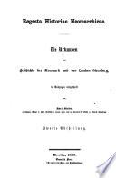 Regesta Historiae Neomarchicae