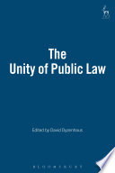 The Unity Of Public Law book