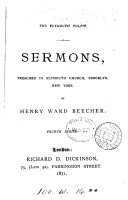 download ebook the plymouth pulpit. sermons preached in plymouth church, brooklyn pdf epub
