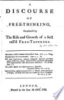 A Discourse Of Free Thinking
