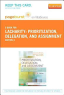 Prioritization  Delegation  and Assignment Pageburst E book on Vitalsource Retail Access Card