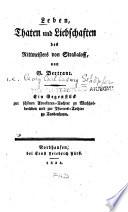 Leben, Thaten und Liebschaften des Rittmeisters von Strabaloff; eine Gegenstück zur Schönen Advokaten-Tochter zu Wachholderleben und zur Pfarrers-Tochter zu Taubenhayn