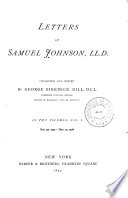 Letters of Samuel Johnson, LL.D.