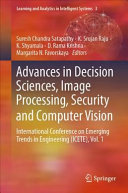 Advances In Decision Sciences Image Processing Security And Computer Vision