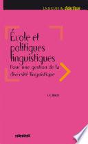 Ecole et politiques linguistiques 2016