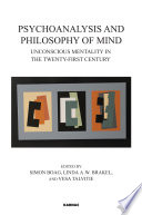 Psychoanalysis and Philosophy of Mind