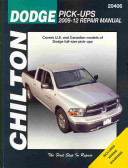Chilton Dodge Pick Ups 2009 12 Repair Manual
