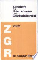 Zeitschrift für Unternehmens- und Gesellschaftsrecht