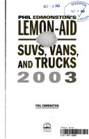 Lemon Aid Suvs  Vans  Truck 2003