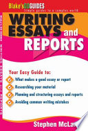Writing Essays and Reports Free download PDF and Read online