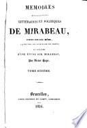 M  moires biographiques  litt  raires et politiques de Mirabeau