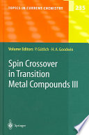 Spin Crossover In Transition Metal Compounds Iii book