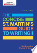 The Concise St  Martin s Guide to Writing