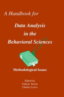 A Handbook for Data Analysis in the Behavioral Sciences