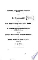 Jahresbericht der Grossh  Badischen Meteorologischen Centralstation Karlsruhe
