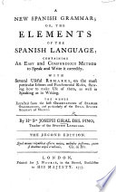 A new Spanish Grammar     Second edition