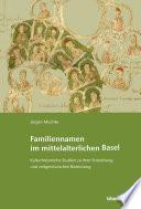 Familiennamen im mittelalterlichen Basel