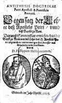 Antithesis doctrinae Petri apostoli et pontificis romani