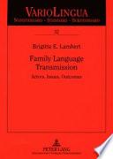 Family Language Transmission