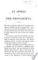 An Appeal To The Thoughtful