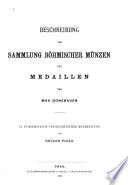 Beschreibung der sammlung böhmischer münzen und medaillen des Max Donebauer